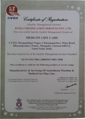 ISO Cetified Medical Equipments